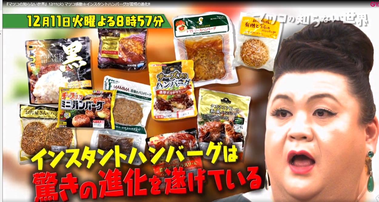マツコのチルド(レトルト)ハンバーグの世界!ハンバーグ王子松島和之お勧めの通販は?【マツコの知らない世界】